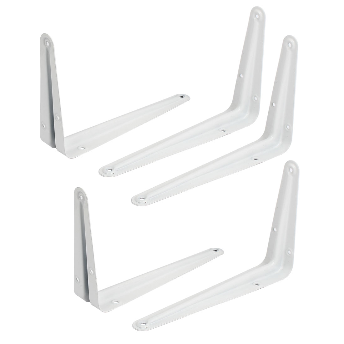 8 Inch Length L Shape Baked Enamel Metal Wall Shelf Support Bracket 5pcs