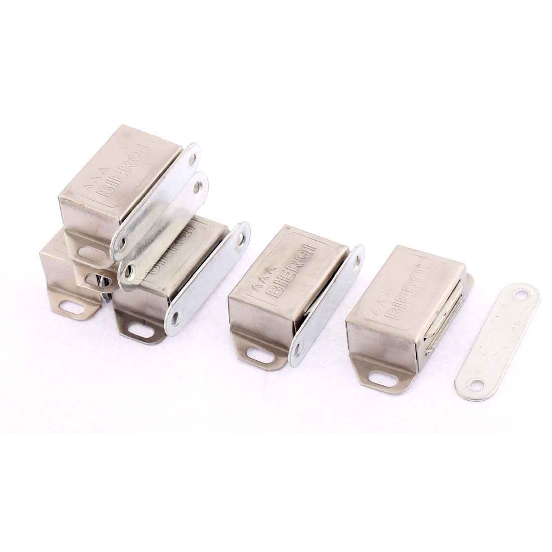 Furniture Cupboard Stainless Steel Magnetic Catch Stopper Latch 54mm Length 6pcs