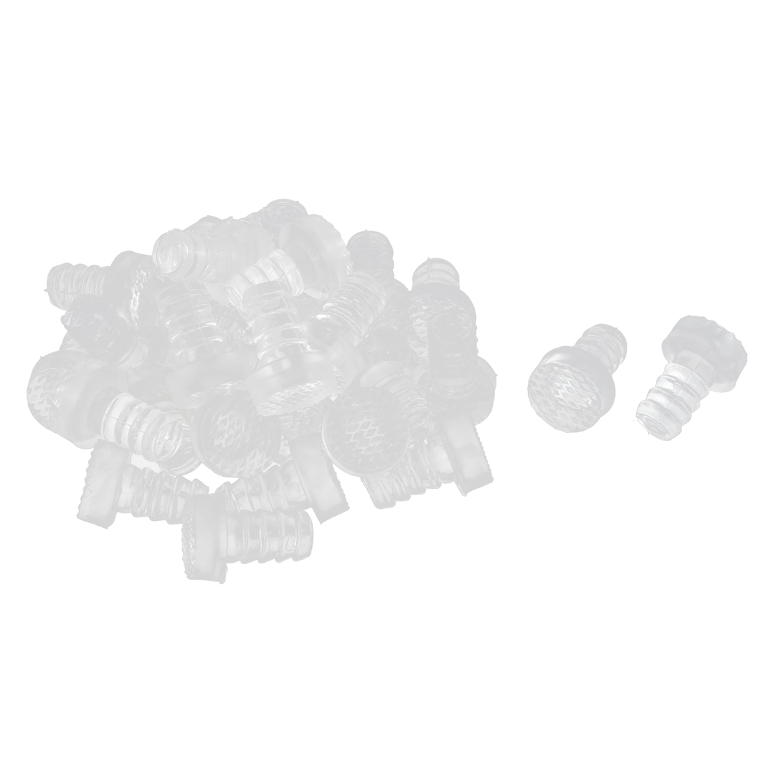 Furniture Feet Plastic Anticollision Tube Inserts 9mm Thread Dia 30pcs