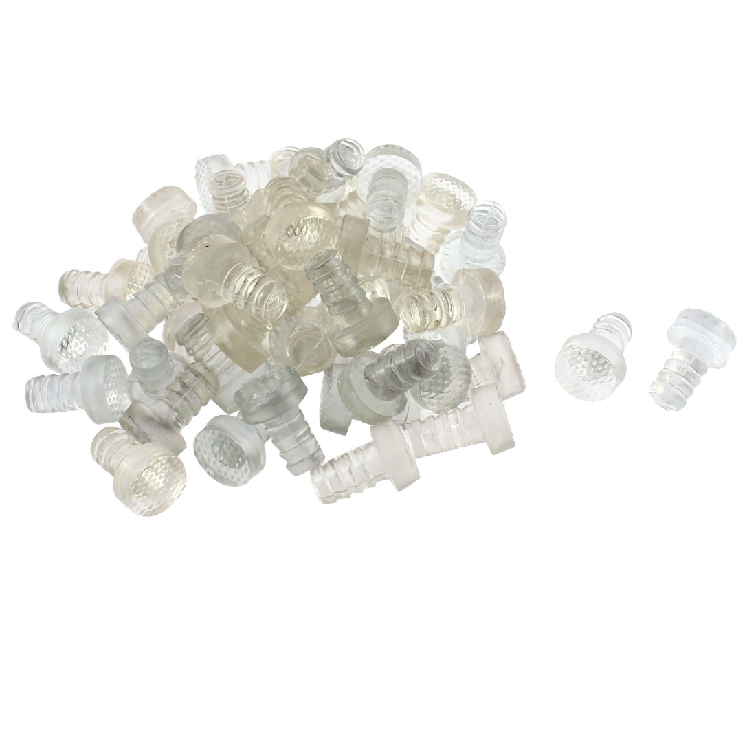 Furniture Leg Anticollision Tube Inserts Cover 9mm Thread Dia 50 Pcs