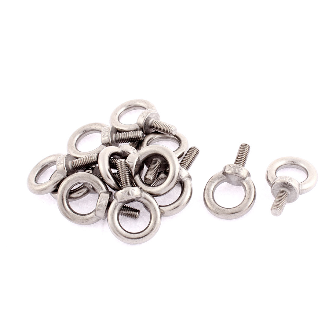 M5 x 12mm Metric Thread Machinery Shoulder Lifting Eye Bolt Ring 12pcs