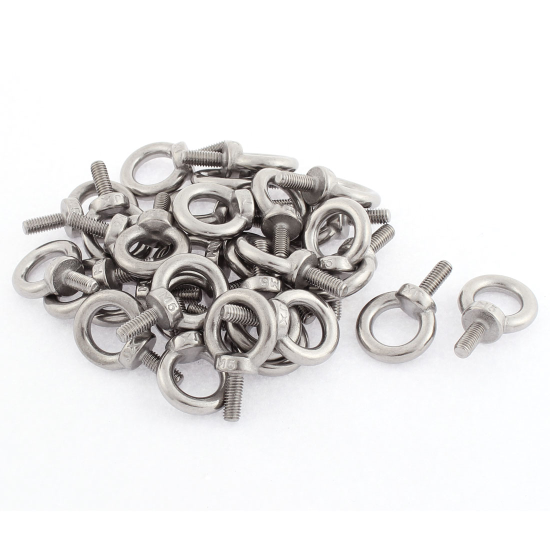 M5 x 12mm Male Thread Metal Machinery Shoulder Lifting Eye Bolt 30pcs
