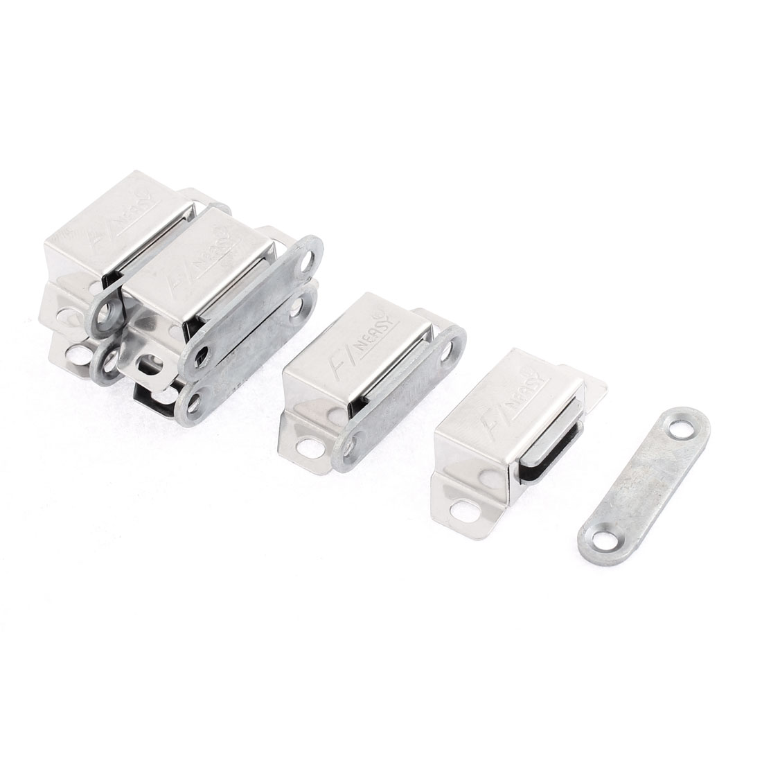 Cabinet Door Stainless Steel Magnetic Catch Stopper Latch 36mm Length 6pcs