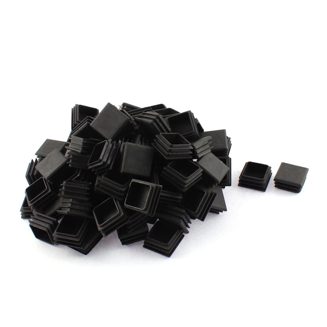 Plastic Square Blanking End Tube Caps Cover Inserts 30mmx30mm 100pcs