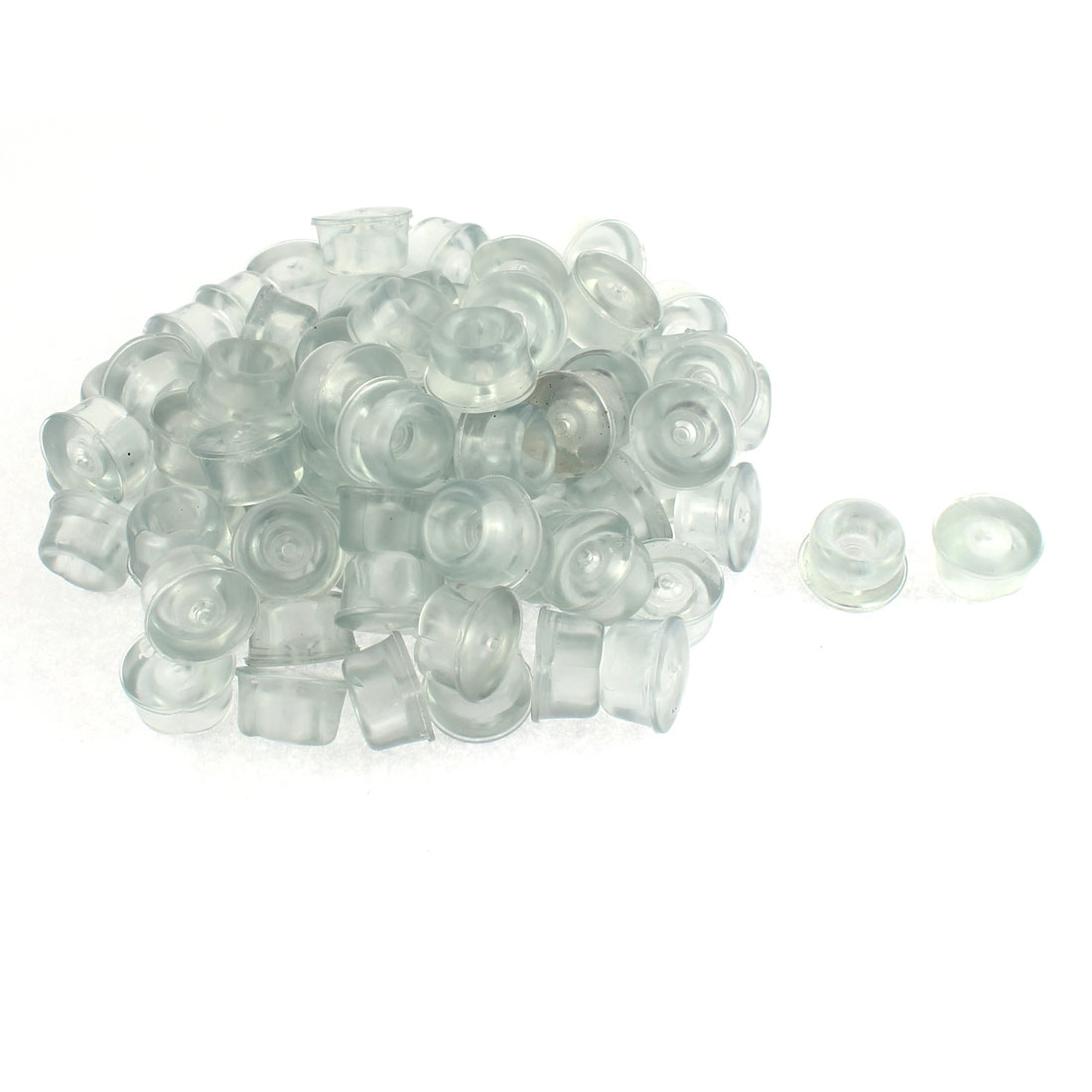 Rubber Cone Furniture Chair Leg Foot Tip Pad 22mm Dia Clear 80 Pcs