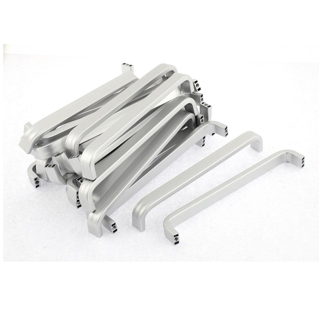 Furniture Drawer Aluminium Pull Handle 133mm Length Silver Tone 30pcs