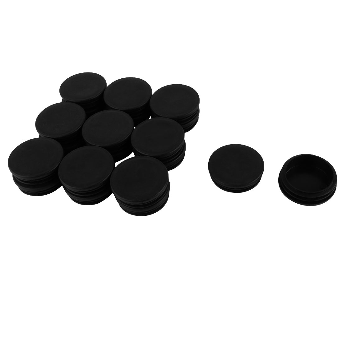 Plastic Round Blanking End Tube Caps Cover Inserts 50mm Dia 20pcs