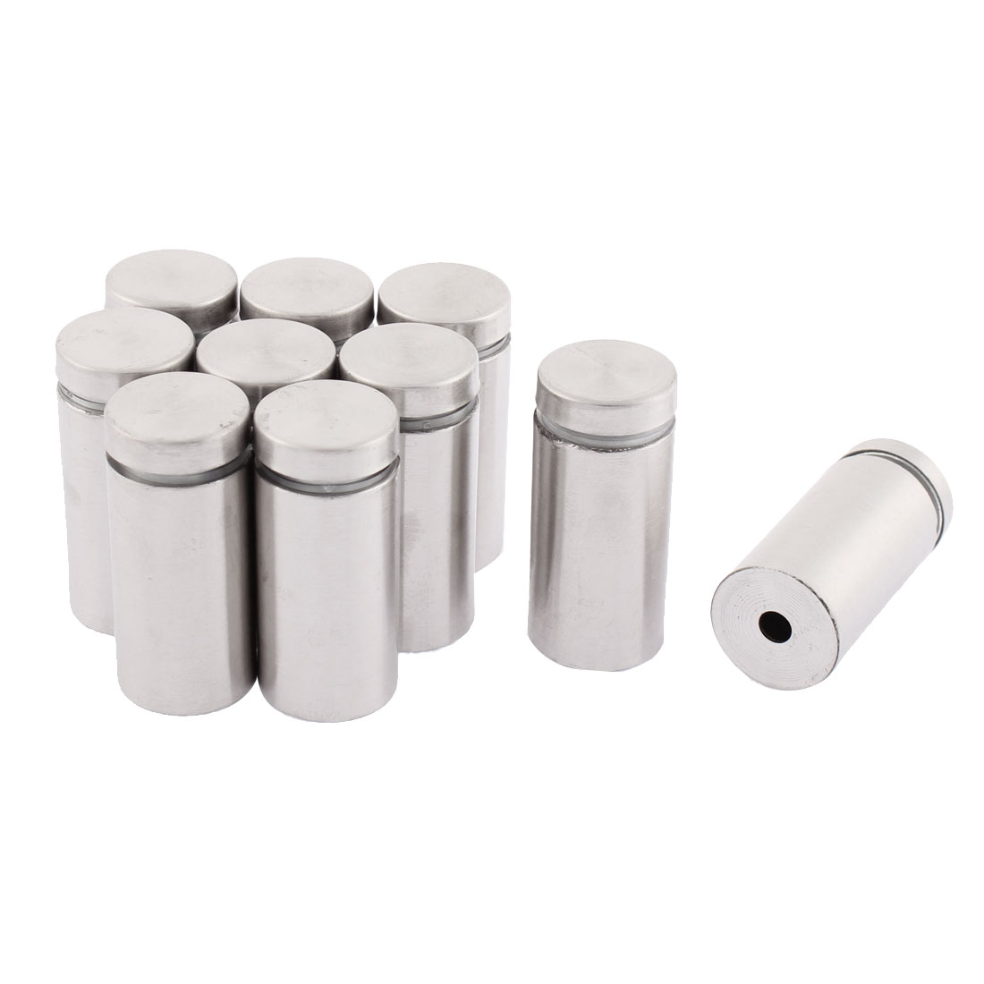 Stainless Steel Advertisement Nails Glass Marble Standoff 19mmx40mm 10pcs