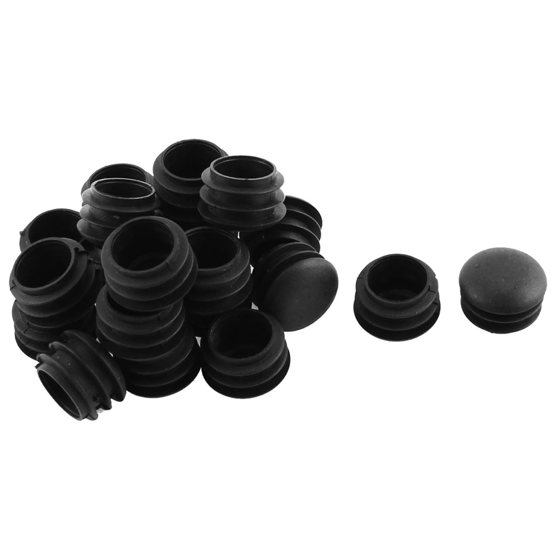 Furniture Plastic Blanking End Tube Caps Cover Inserts 25mm Dia 20pcs
