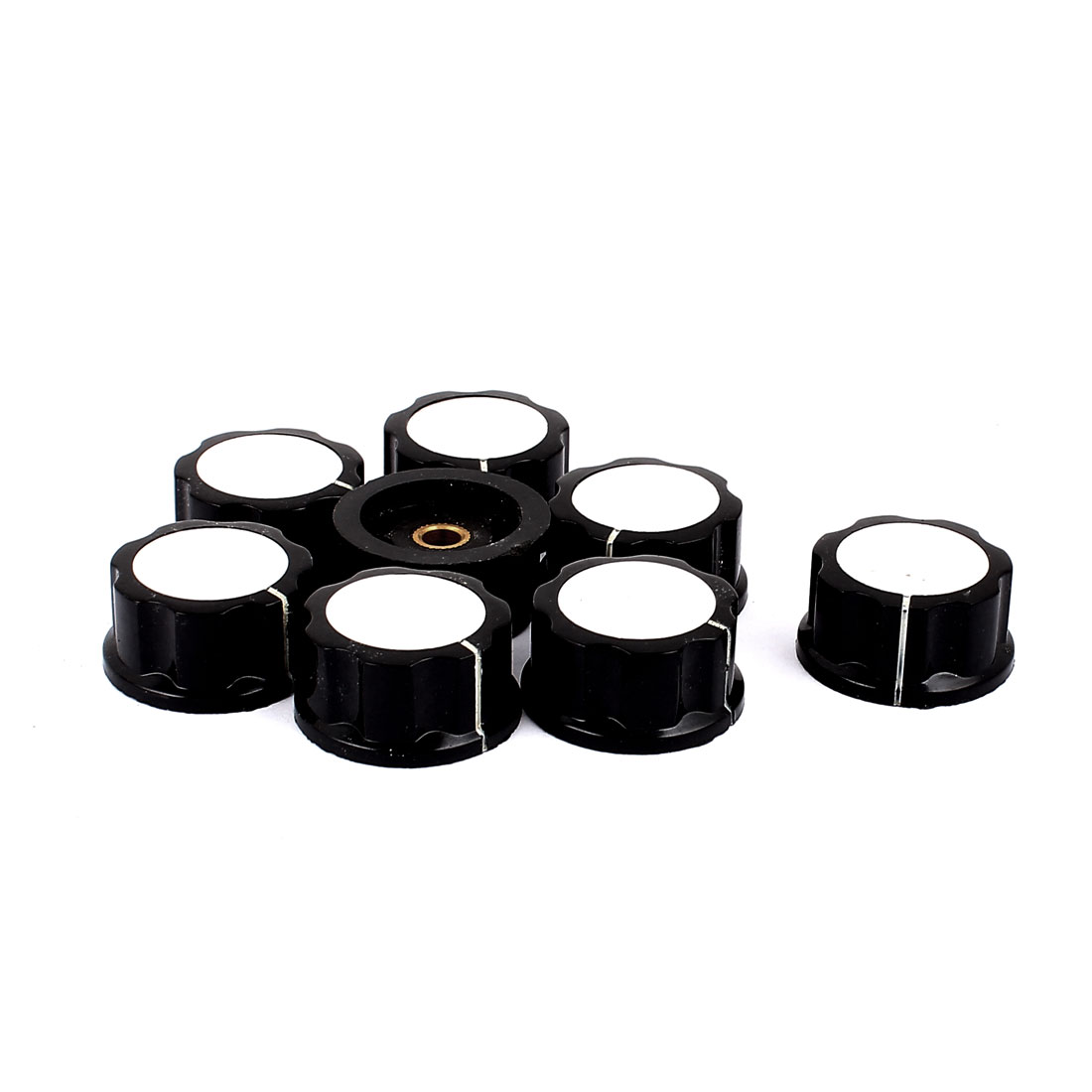 8 Pcs 30mm x 16mm Potentiometer Control Switch Volume Caps Knurled Button Cap 6mm Diameter