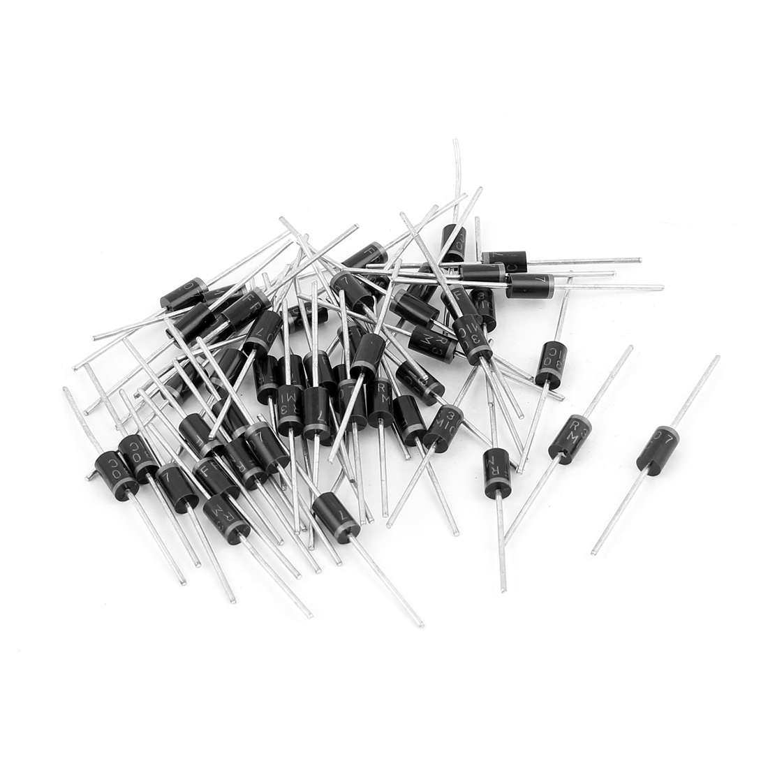 3A 1000V FR307 Cylindrical Axial Leaded Rectifier Schottky Diodes 50 Pcs