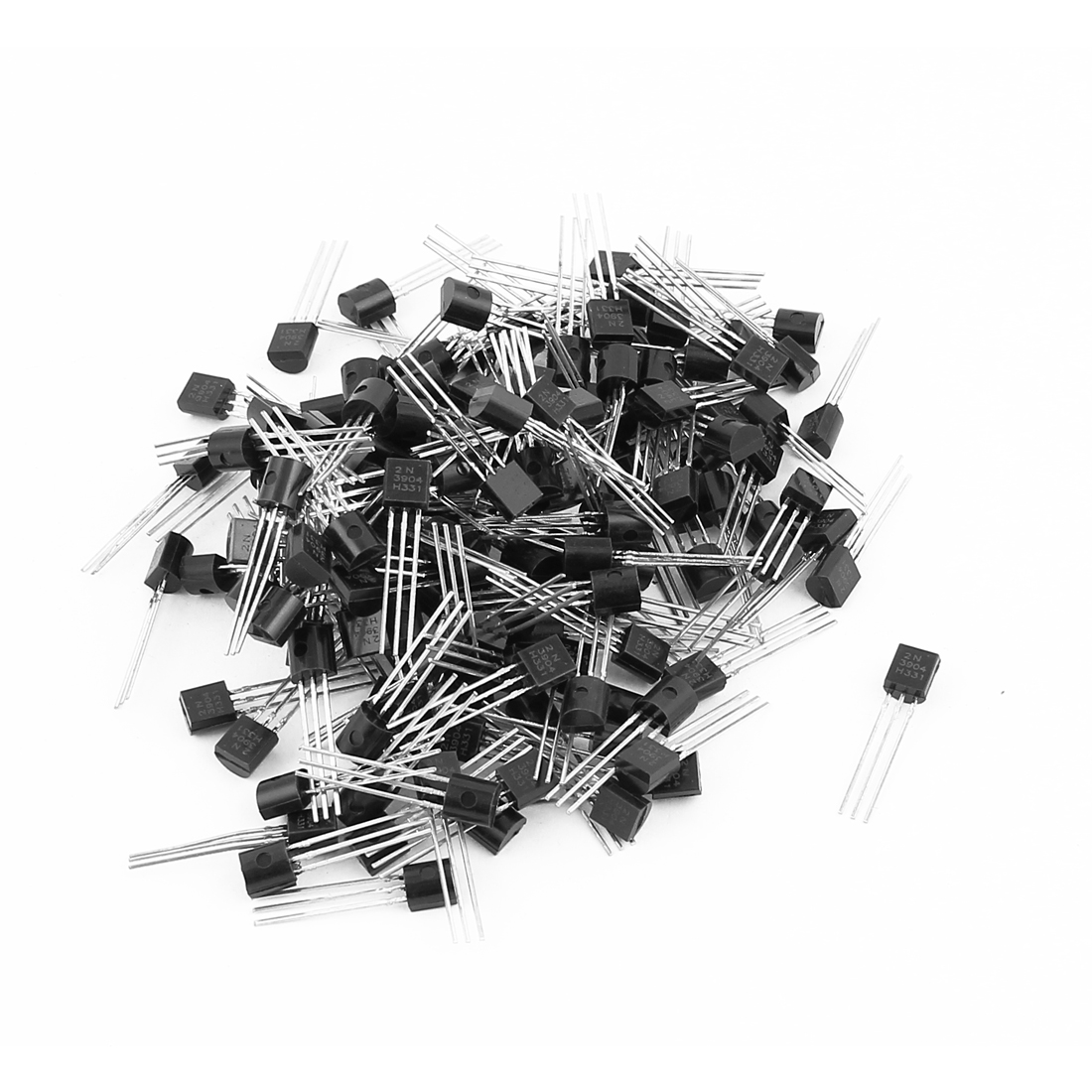 150 Pcs 2N3904 TO-92 NPN Bipolar Low Power Junction Transistors 40V 0.2A