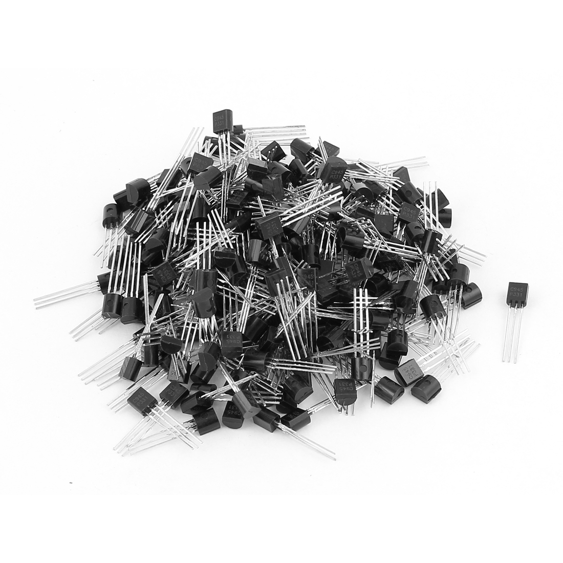 250 Pcs C945 TO-92 NPN Bipolar Low Power Junction Transistors 50V 0.15A