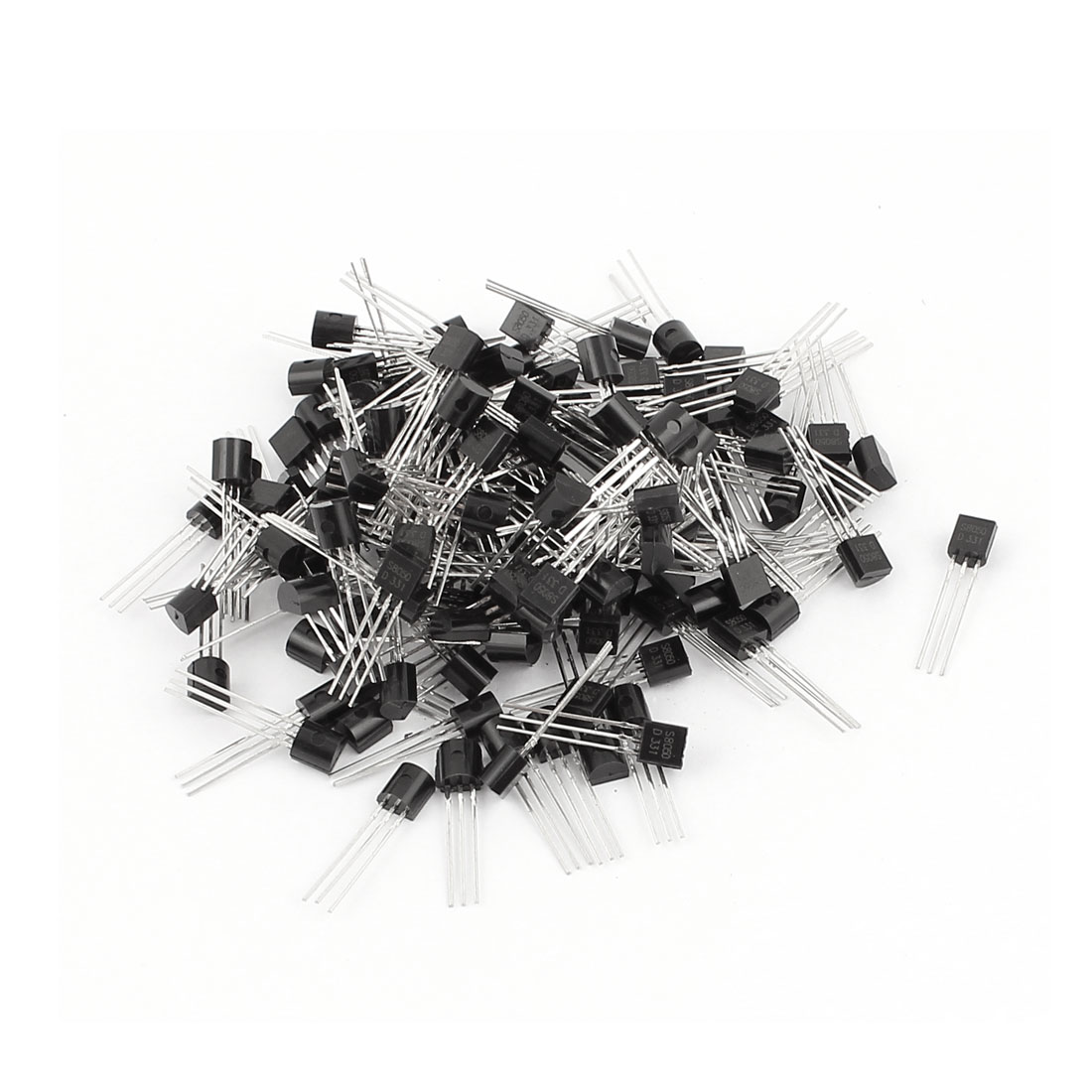 150 Pcs S8050 TO-92 NPN Bipolar Low Power Junction Transistors 40V 0.5A
