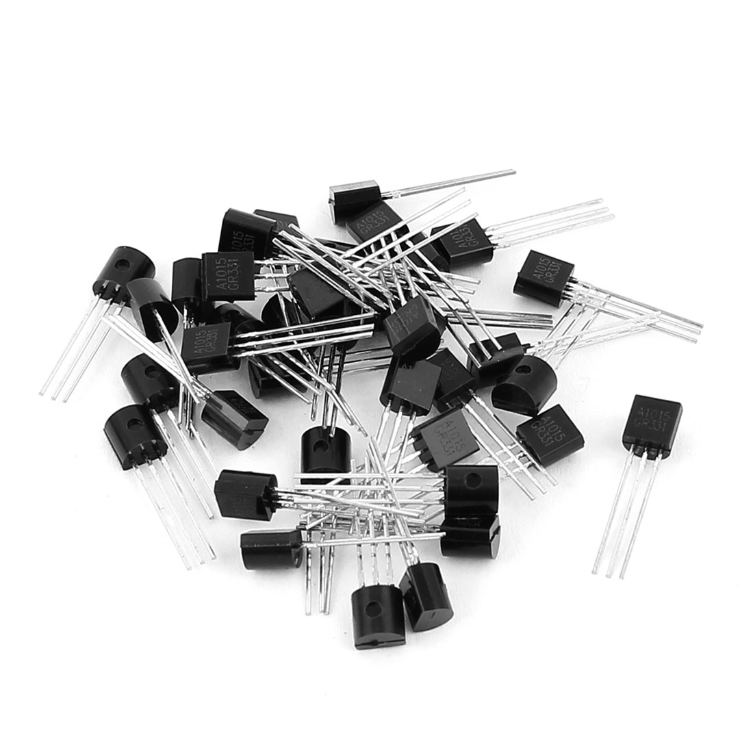 40 Pcs A1015 TO-92 PNP Bipolar Low Power Junction Transistors 50V 0.15A