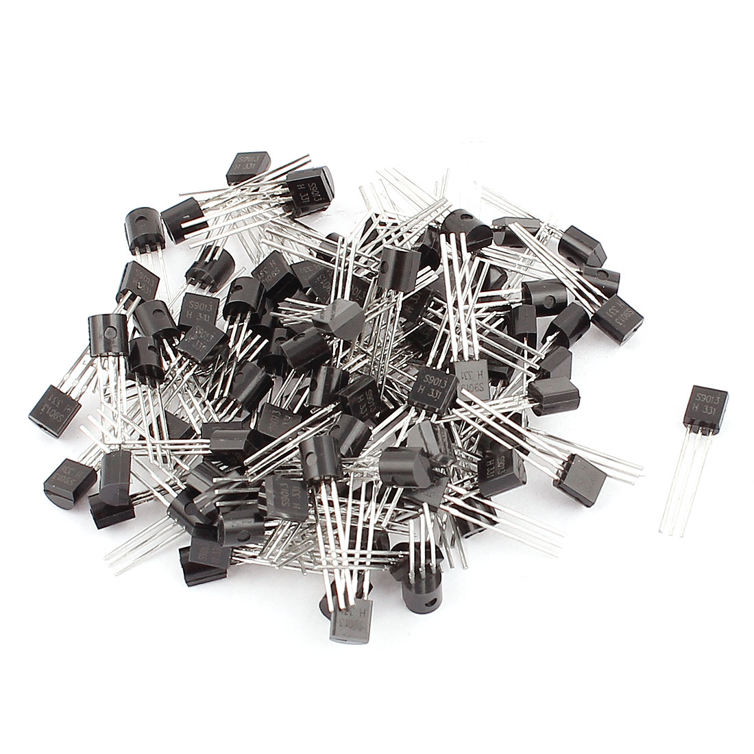 100 Pcs S9013 TO-92 NPN Bipolar Low Power Junction Transistors 40V 0.5A