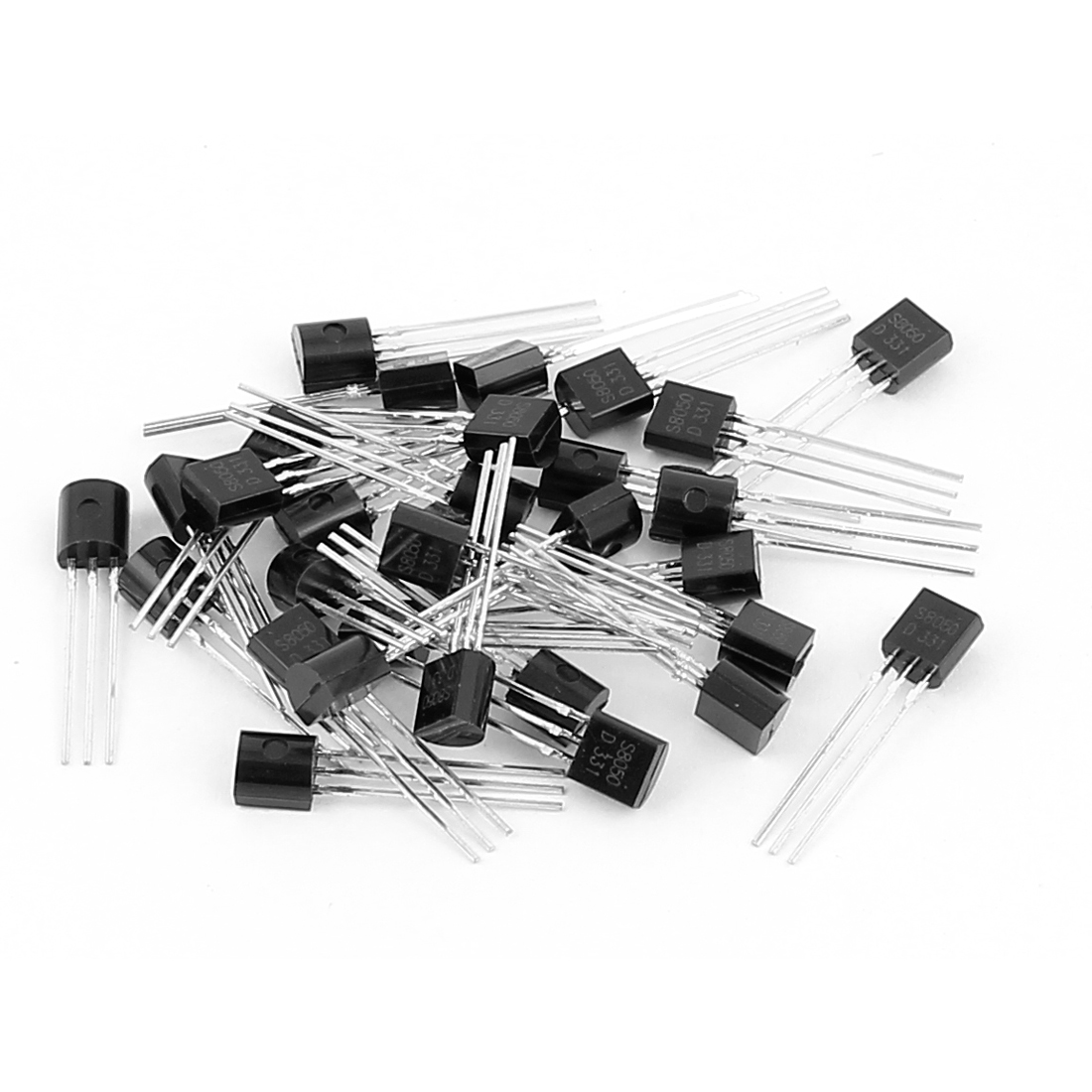 30 Pcs S8050 TO-92 NPN Bipolar Low Power Junction Transistors 40V 0.5A