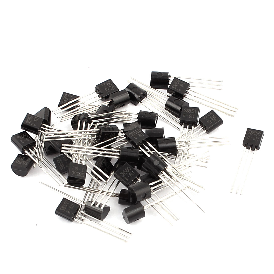 40 Pcs S8550 TO-92 PNP Bipolar Low Power Junction Transistors 40V 0.5A