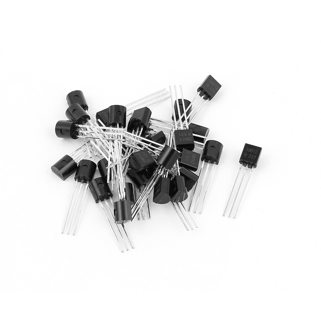 30 Pcs S9012 PNP Bipolar Low Power Junction Transistors 40V 0.5A TO-92