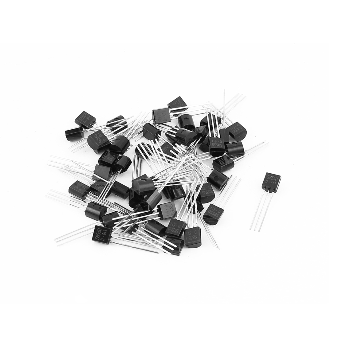 50 Pcs S8550 TO-92 PNP Bipolar Low Power Junction Transistors 40V 0.5A