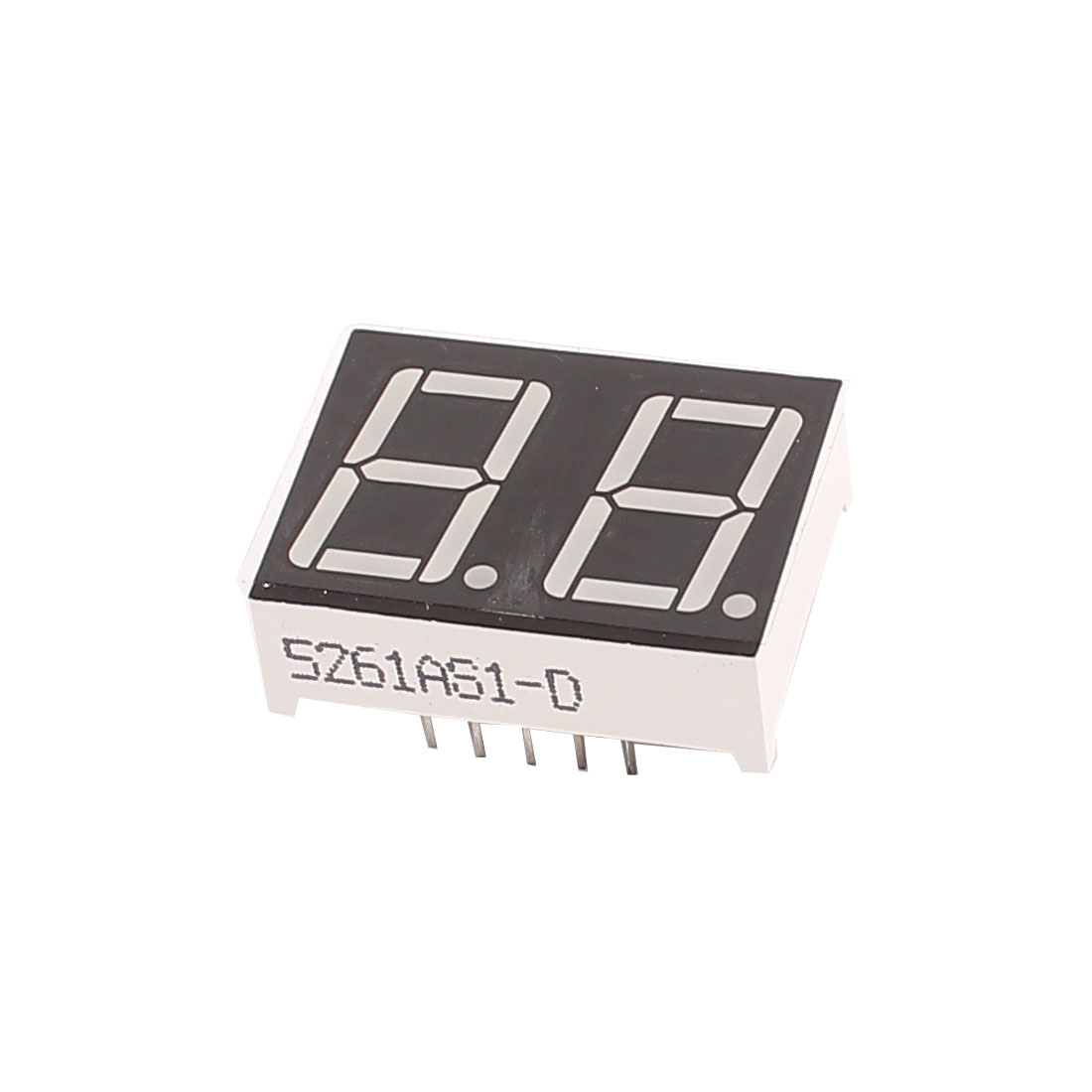 "Common Cathode 10 Pin 2 Bit 7 Segment 0.56"" Red LED Display Digital Tube"