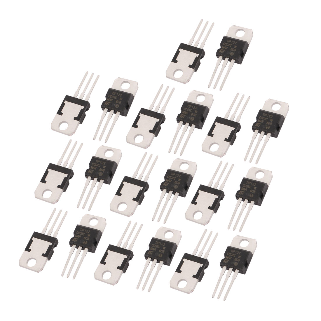 20 Pcs TIP122 Package TO-220 3 Terminals Power Transistor 100V 5A