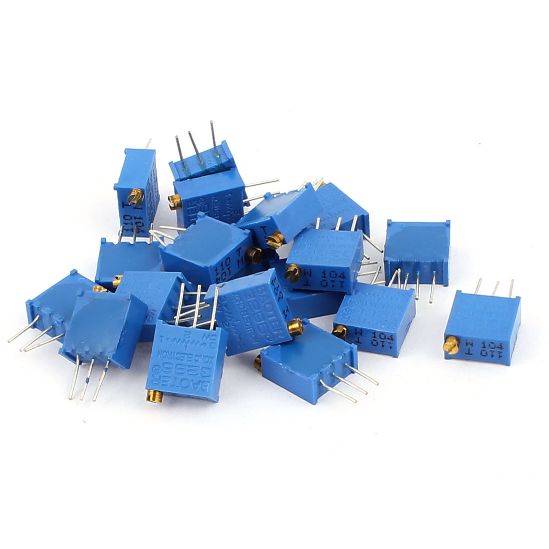 20 Pcs 3296W 100K ohm Multiturn Potentiometer Pot Variable Resistor