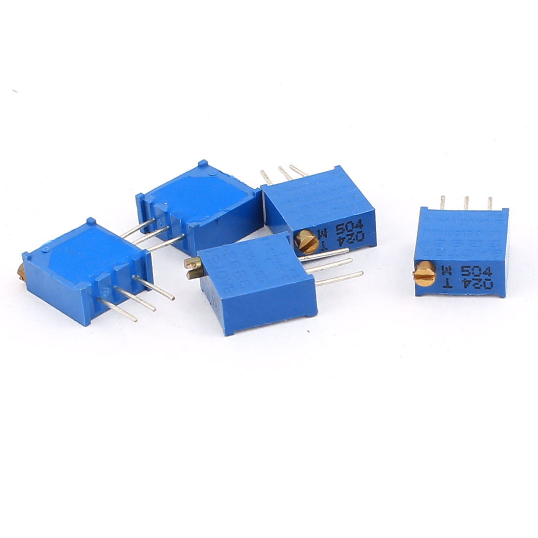 5 Pcs 3296W 500K ohm Variable Resistor Adjustable Resistance for Multiturn Potentiometer