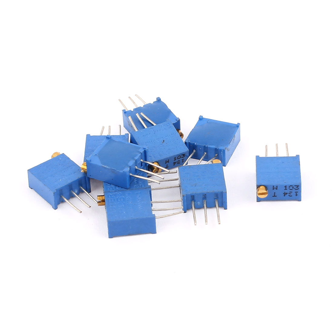10 Pcs 3296W 10K ohm Multiturn Potentiometer Pot Variable Resistor