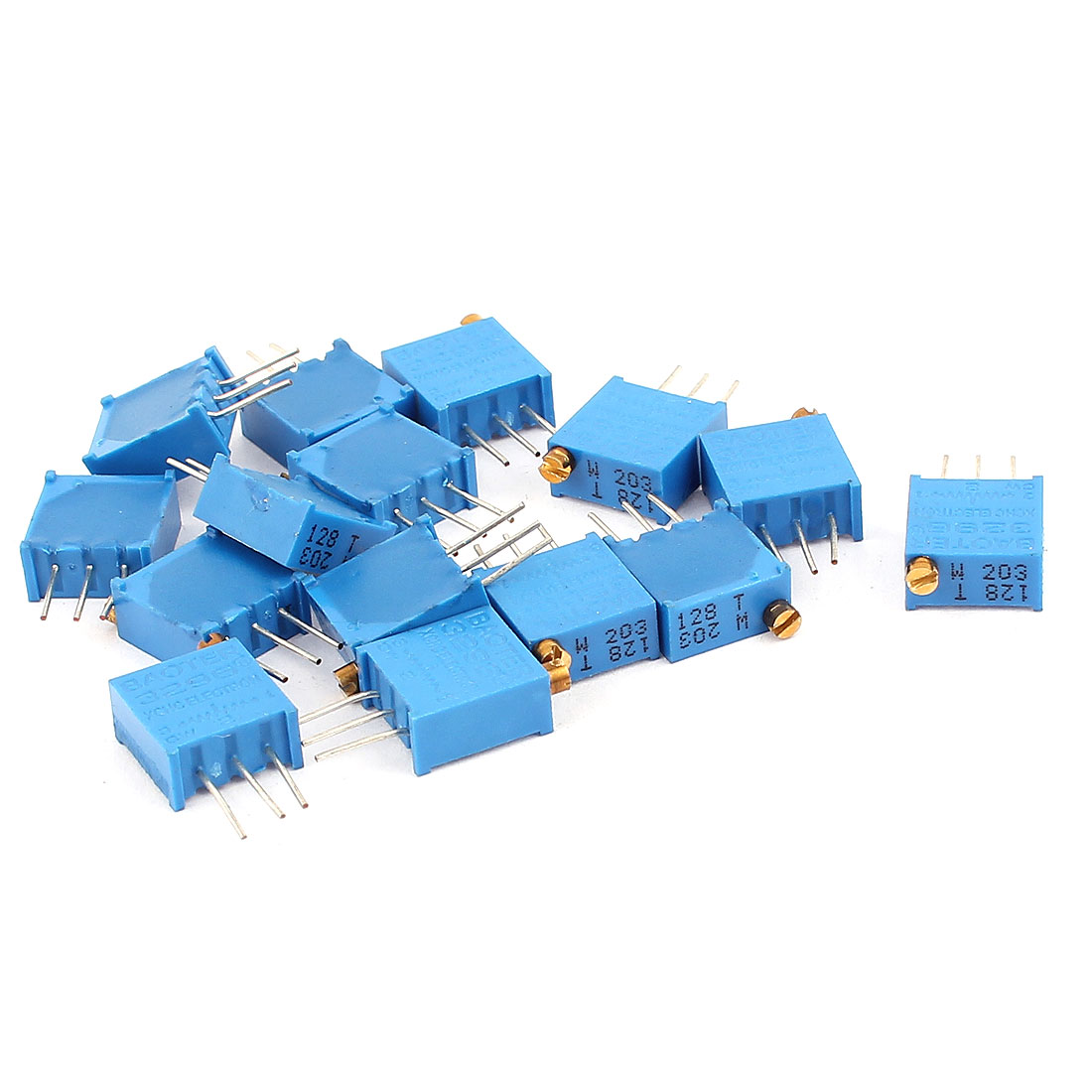 15 Pcs 3296W 20K ohm Multiturn Potentiometer Pot Variable Resistor