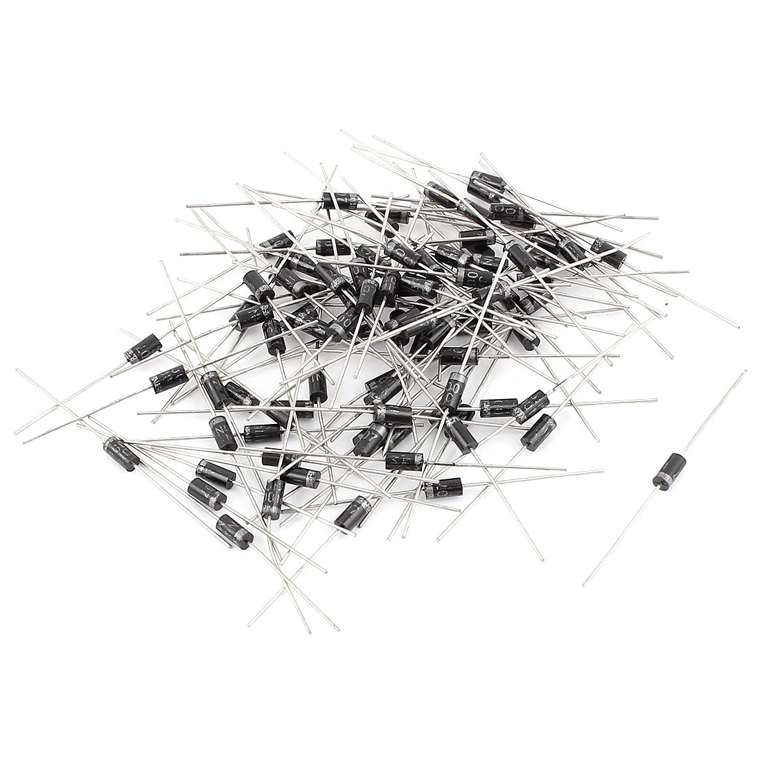 1A 1000V Cylindrical Axial Leaded IN4007 Rectifier Schottky Diodes 100 Pcs