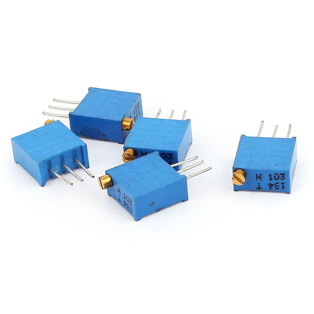5 Pcs 3296W 10K ohm Variable Resistor Adjustable Resistance for Multiturn Potentiometer