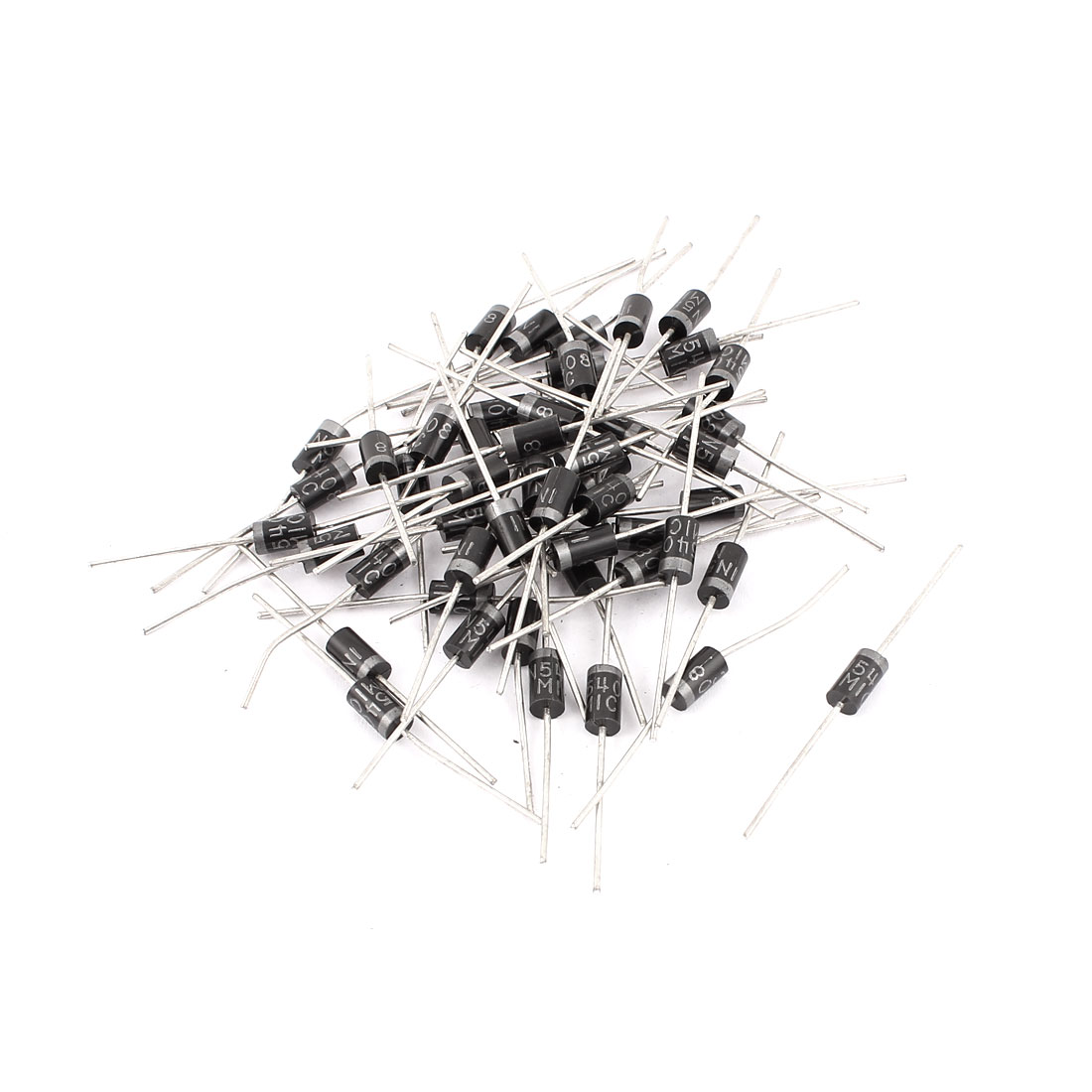 3A 1000V IN5408 Cylindrical Axial Leaded Rectifier Schottky Diodes 50 Pcs