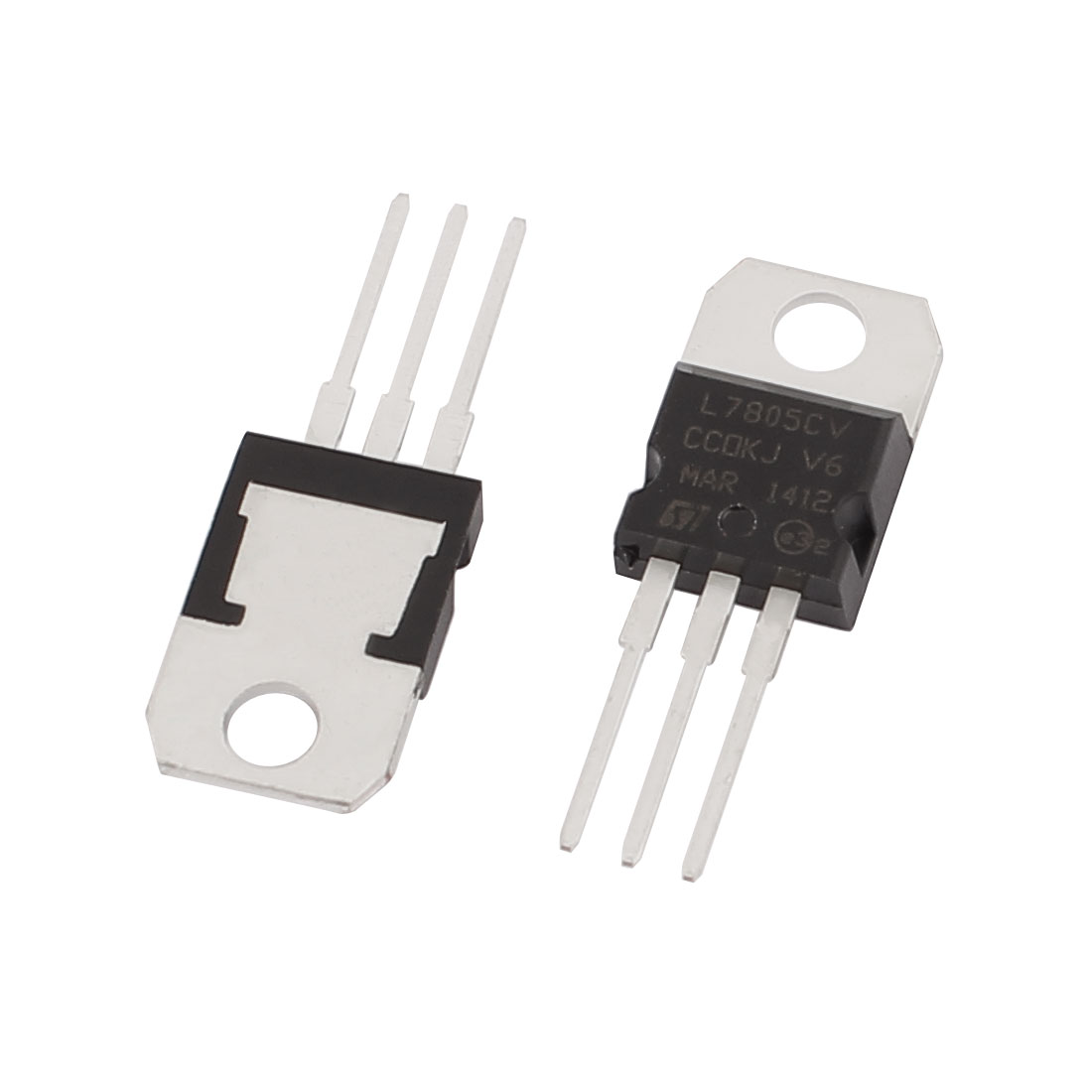 2 Pcs 5V 1.5A 3 Pin Terminals L7805CV Positive Voltage Regulator TO-220