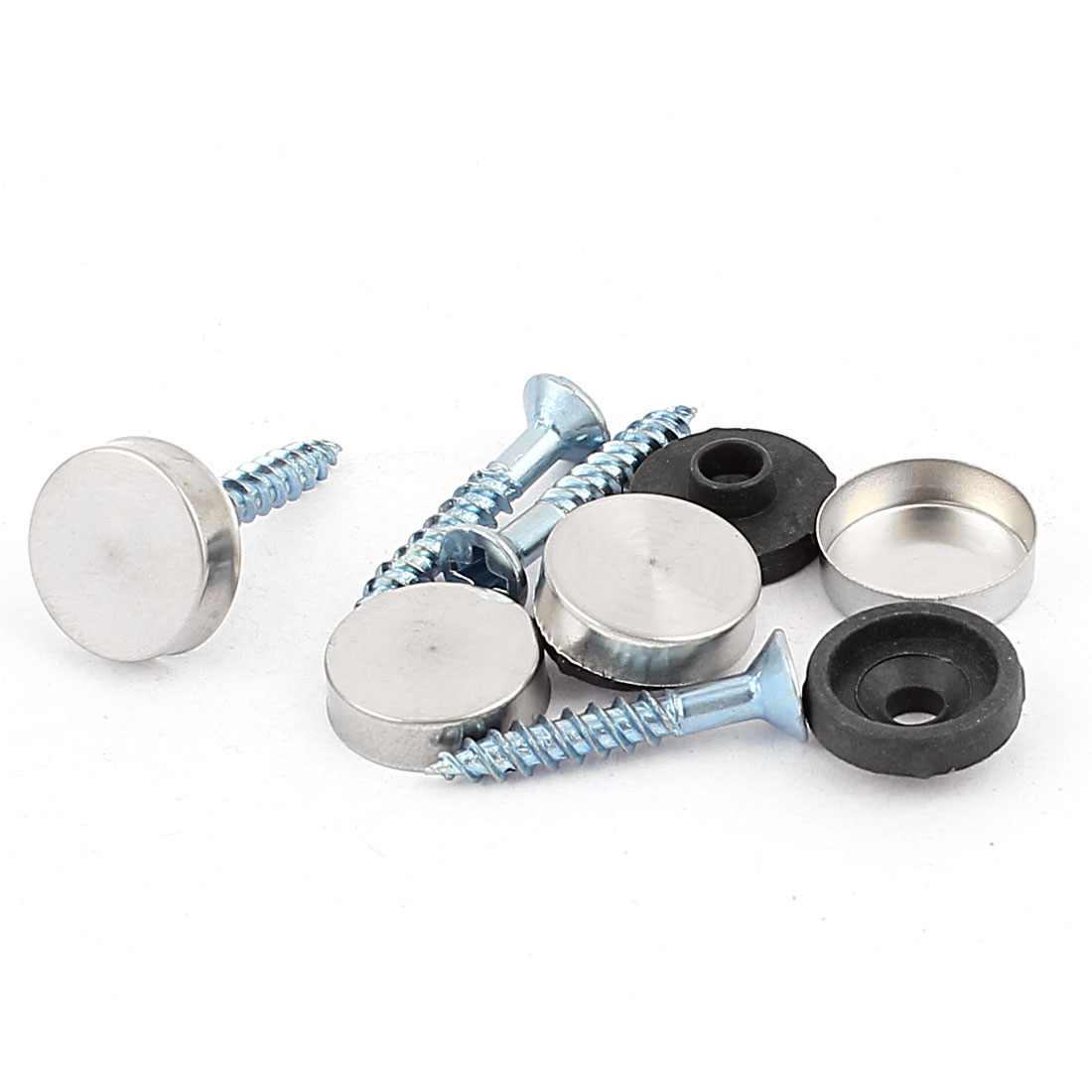 4 Pcs Anti-rust Fixed Mirror Nail Pad Decorative Fasteners Billboard Studded 14mm Diameter