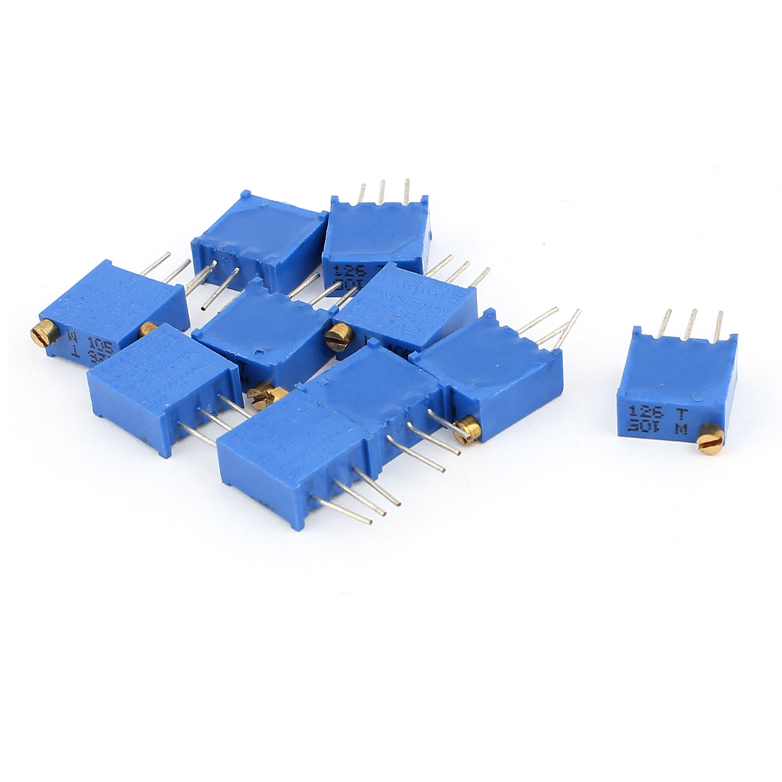 10 Pcs 3296W 1M ohm Variable Resistor Adjustable Resistance for Multiturn Potentiometer