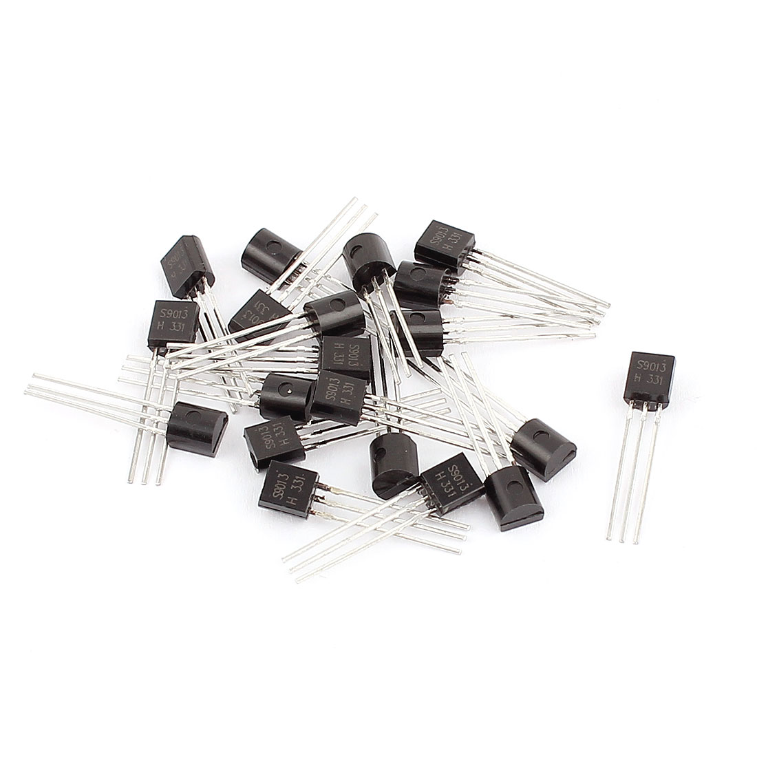 20 Pcs S9013 TO-92 NPN Bipolar Low Power Junction Transistors 40V 0.5A