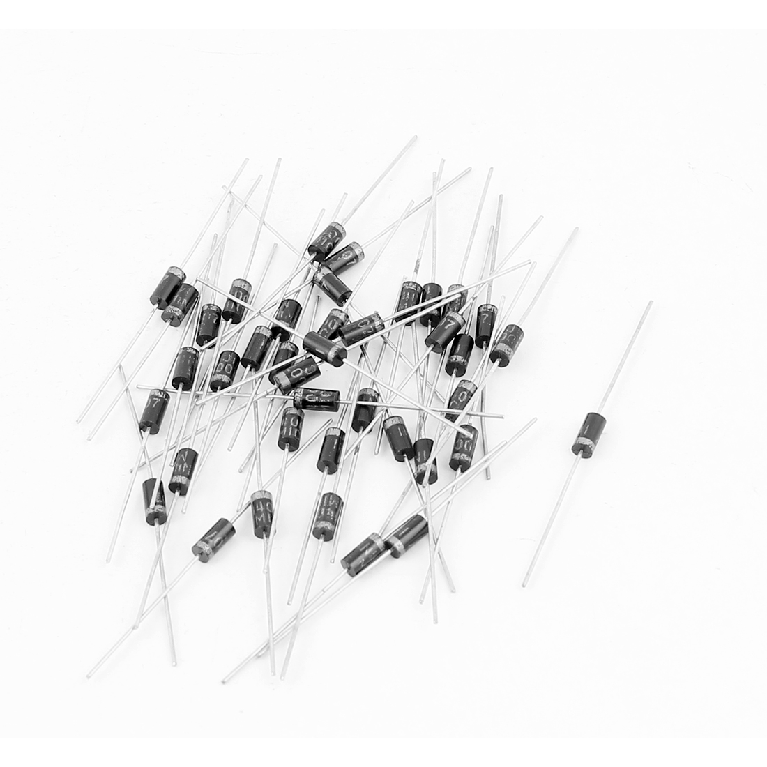 1A 1000V IN4007 Cylindrical Axial Leaded Rectifier Schottky Diodes 40 Pcs