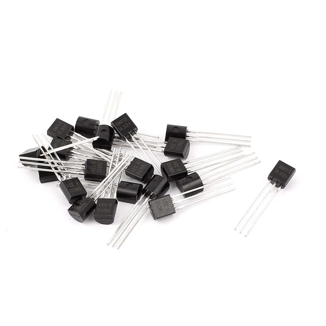 20 Pcs S9012 TO-92 PNP Bipolar Low Power Junction Transistors 40V 0.5A