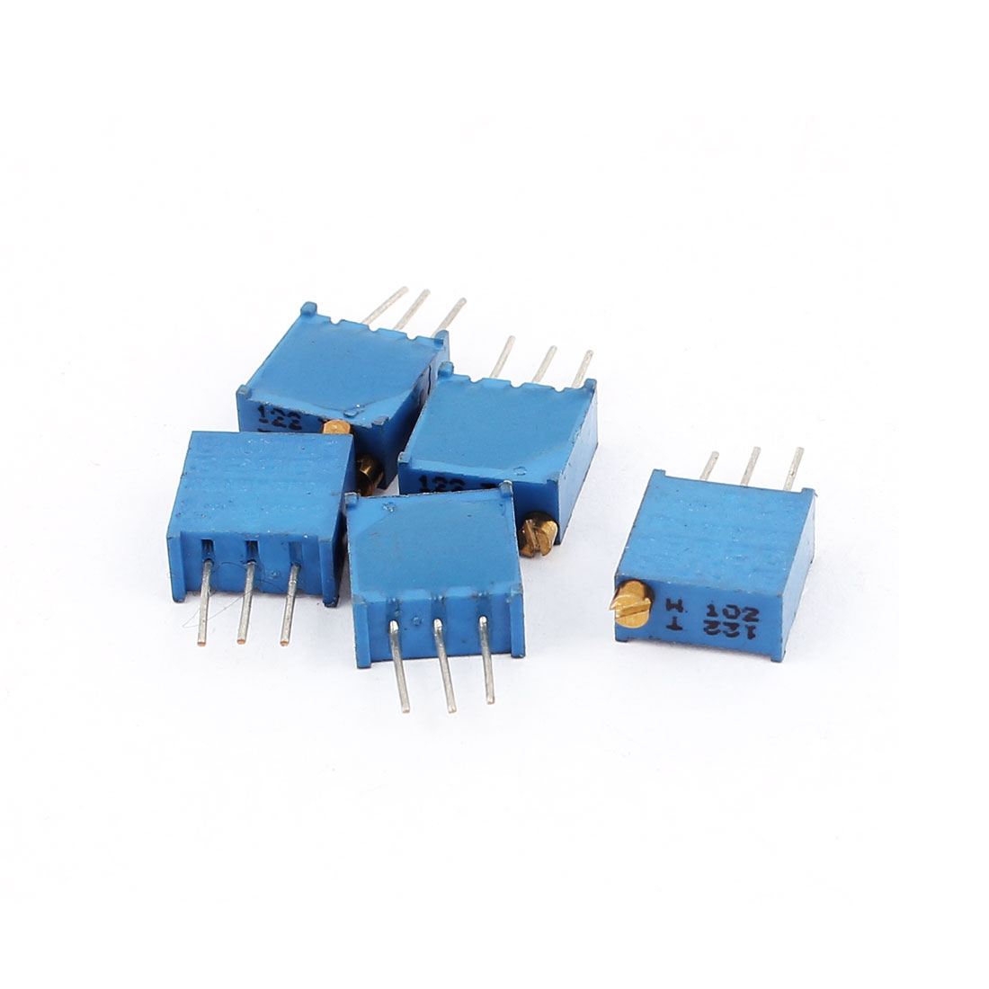 5 Pcs 3296W 1K ohm Variable Resistor Adjustable Resistance for Multiturn Potentiometer