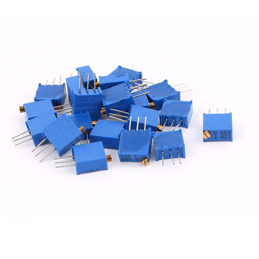 20 Pcs 3296W 20K ohm Variable Resistor Adjustable Resistance for Multiturn Potentiometer
