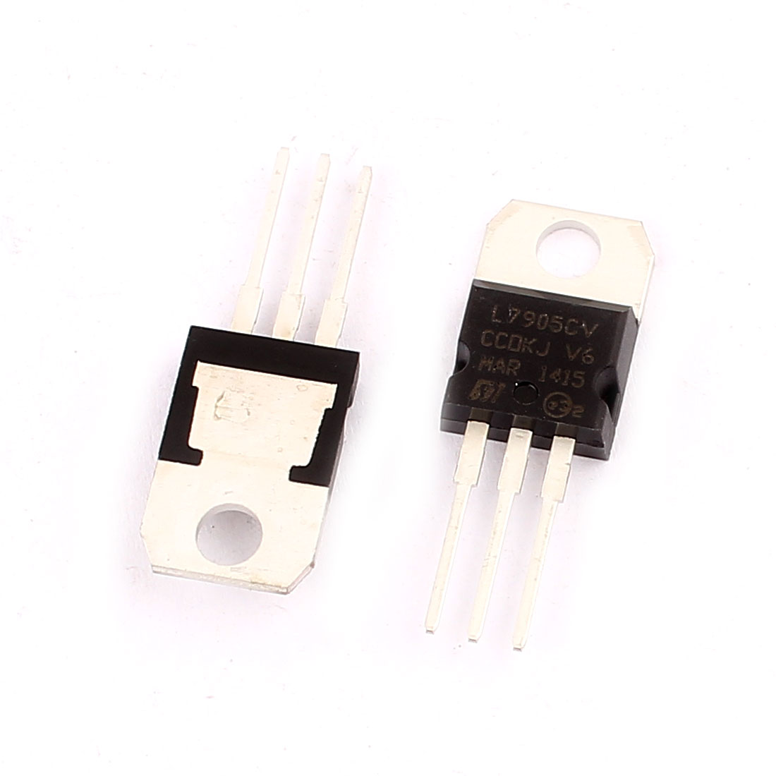 2 Pcs 5V 1A 3 Pin Terminals L7905CV Negative Voltage Regulator TO-220