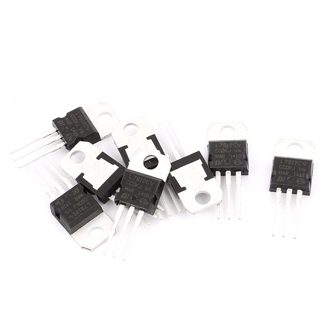 8 Pcs 12V 1A 3 Pin Terminals L7812CV Positive Voltage Regulator TO-220