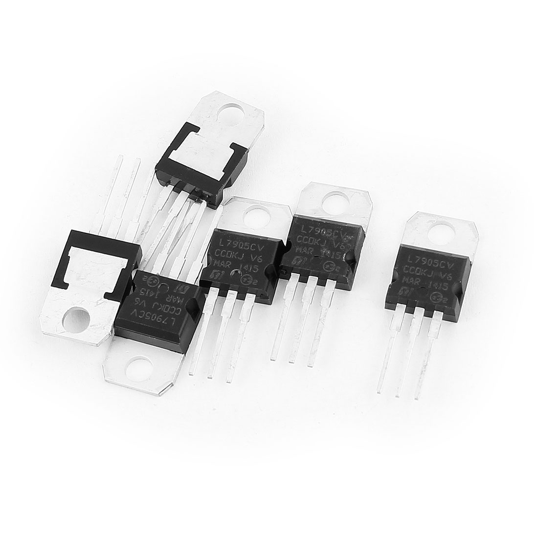 6 Pcs 5V 1A 3 Pin Terminals L7905CV Negative Voltage Regulator TO-220