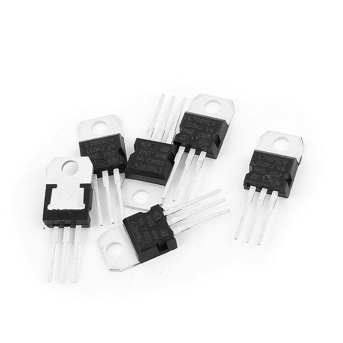 6 Pcs 9V 1A 3 Pin Terminals L7809CV Positive Voltage Regulator TO-220