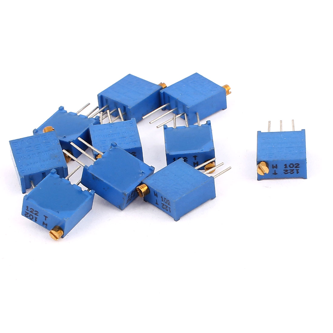 10 Pcs 3296W 1K ohm Multiturn Potentiometer Pot Variable Resistor