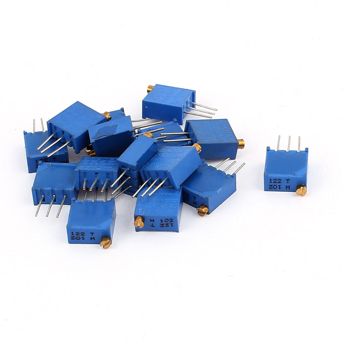 15 Pcs 3296W 1K ohm Multiturn Potentiometer Pot Variable Resistor