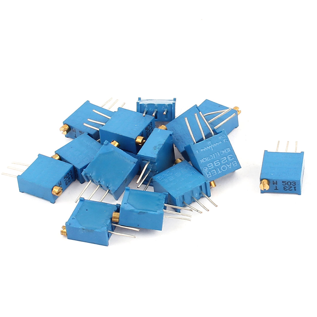 15 Pcs 3296W 50K ohm Variable Resistor Adjustable Resistance for Multiturn Potentiometer