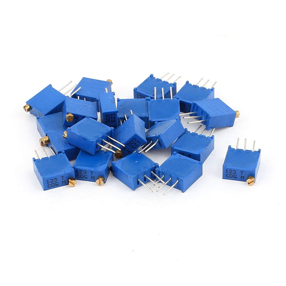 20 Pcs 3296W 50K ohm Multiturn Potentiometer Pot Variable Resistor