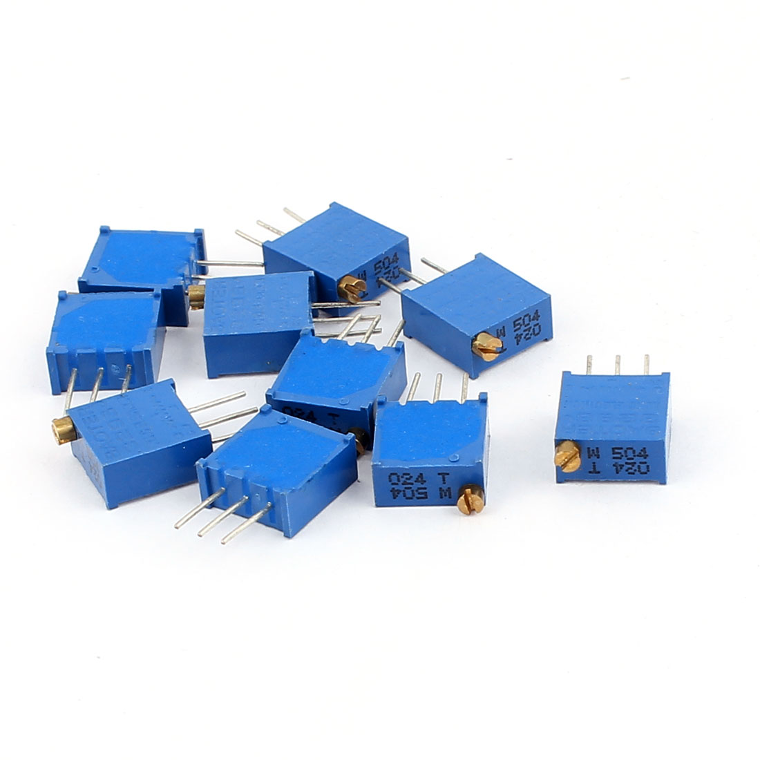 10 Pcs 3296W 500K ohm Multiturn Potentiometer Pot Variable Resistor